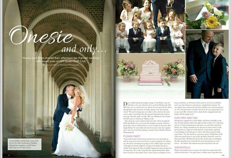 National County Weddings Magazine wedding feature