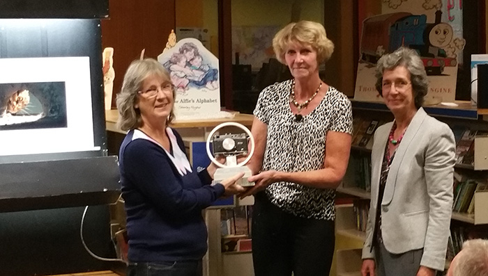 Michelle Cirkel awarded the Ron Wake Memorial Trophy