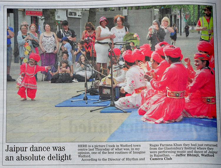 Jaffer Bhimji and Watford Camera Club in the Watford Observer