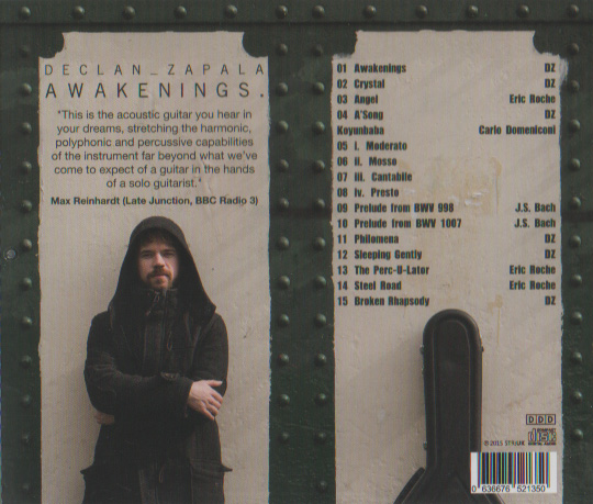 Richard Wilson photographer on Declan Zapala's 'Awakenings' CD cover