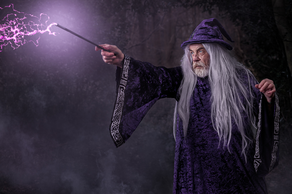 The wizard's magic