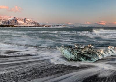 Ice Beach Sunrise by Martin Patten