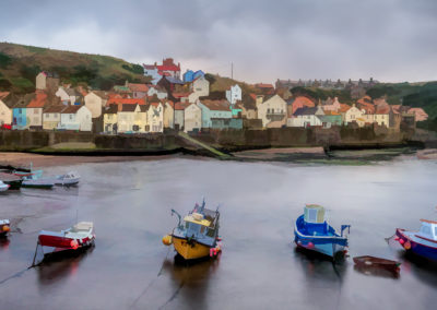 Staithes Harbour by Richard Wilson