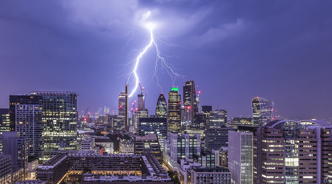 Rooftops of London from James Burns